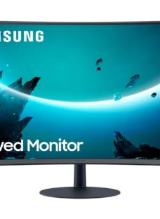 """SAMSUNG LC27T550FDUXEN Full HD 27"""" Curved LED Monitor - Grey"""