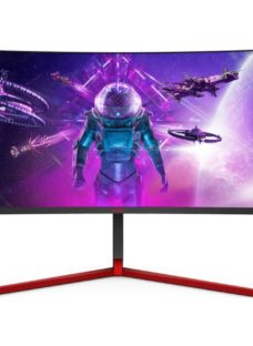 """AOC AG353UCG Wide Quad HD 35"""" Curved LCD Gaming Monitor - Black & Red"""