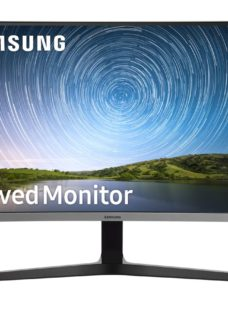 "SAMSUNG LC27R500FHUXEN Full HD 27"" Curved LED Monitor - Blue Grey"