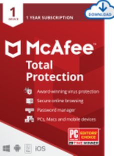 McAfee Total Protection Digital Download for 1 Device - One Time Purchase